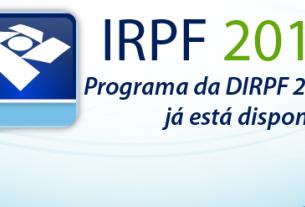 Receita Federal libera programa do Imposto de Renda Pessoa Física de 2018
